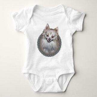 Pomeranian 001 baby bodysuit
