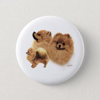 Pomeranian 6 Cm Round Badge
