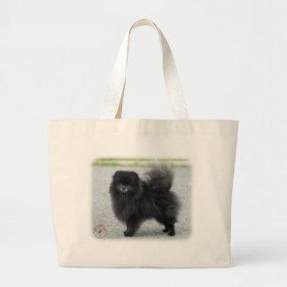 Pomeranian 9R042D-47 Large Tote Bag