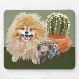 Pomeranian and Hedghog Mousepad