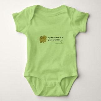 pomeranian baby bodysuit