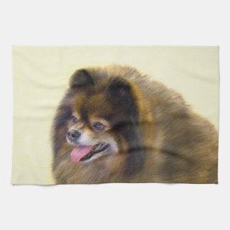 Pomeranian (Black and Tan) Tea Towel