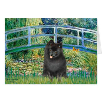 Pomeranian (black) - Bridge Card