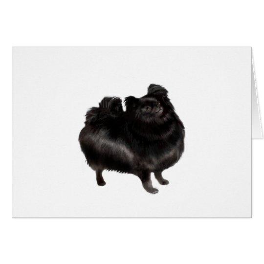 Pomeranian - black (stand) card