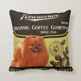 Pomeranian Brand – Organic Coffee Company Cushion