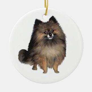 Pomeranian -  brindle christmas ornament