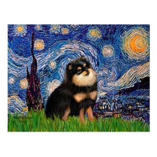 Pomeranian (BT) - Starry Night Postcard
