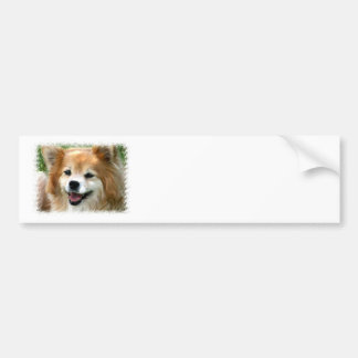 Pomeranian Bumper Sticker Car Bumper Sticker