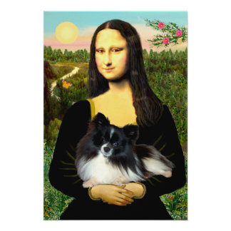 Pomeranian (BW) - Mona Lisa Print