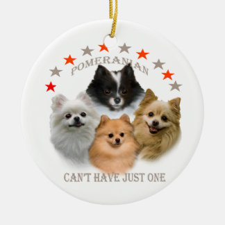 Pomeranian Can't Have Just One ornament