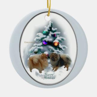 Pomeranian Christmas Gifts Ornament