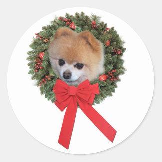 Pomeranian Christmas Sticker