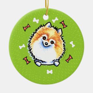 Pomeranian Christmas Wreath Christmas Ornament