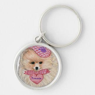 Pomeranian Customizable Keychain