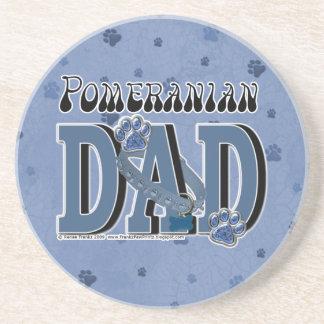 Pomeranian DAD Beverage Coaster
