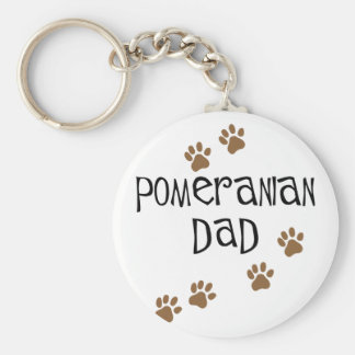Pomeranian Dad Basic Round Button Key Ring