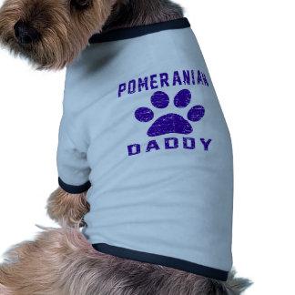 Pomeranian Daddy Gifts Designs Pet Shirt