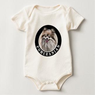 Pomeranian Dog 002 Baby Bodysuit
