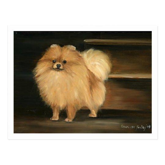 """Pomeranian"" Dog Art Reproduction Postcards"