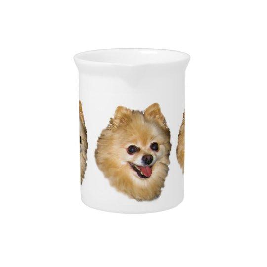 Pomeranian Dog Customisable Pitcher