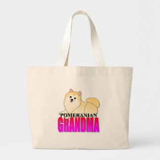 Pomeranian Dog Grandma Large Tote Bag