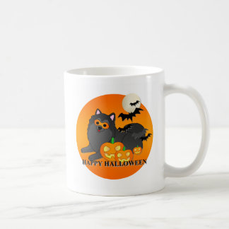 Pomeranian Dog Halloween Mugs