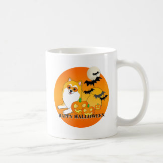 Pomeranian Dog Halloween Coffee Mugs