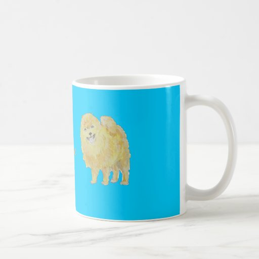 Pomeranian Dog Mugs add name front.