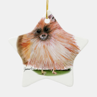 pomeranian dog, tony fernandes ceramic star decoration