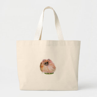 pomeranian dog, tony fernandes large tote bag