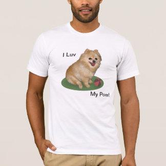 Pomeranian Dog with Ball Customizable T-Shirt