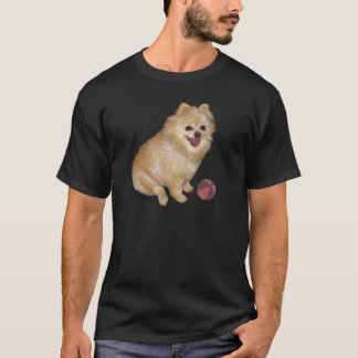 Pomeranian Dog with Ball T-Shirt