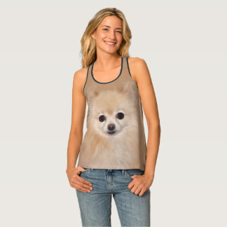 Pomeranian face tank top