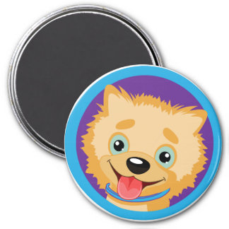 Pomeranian Fridge Magnet - Golden