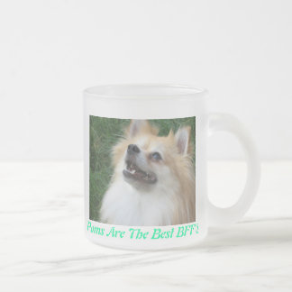 Pomeranian Frosted Mug