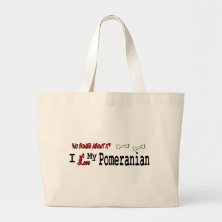 pomeranian Gifts Large Tote Bag