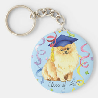 Pomeranian Graduate Key Ring