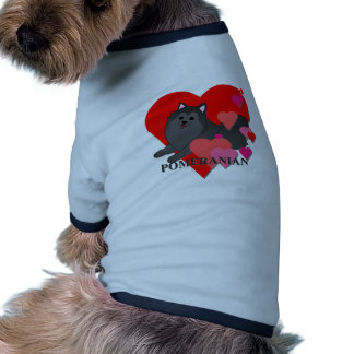 Pomeranian Hearts Dog Clothes
