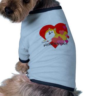 Pomeranian Hearts Pet T Shirt