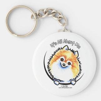 Pomeranian IAAM Basic Round Button Key Ring