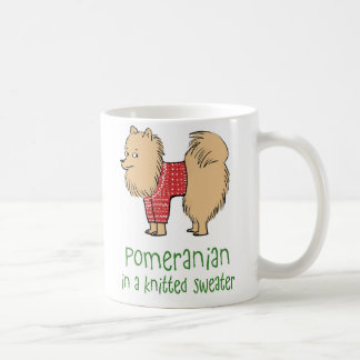 Pomeranian in a Knitted Sweater Coffee Mug