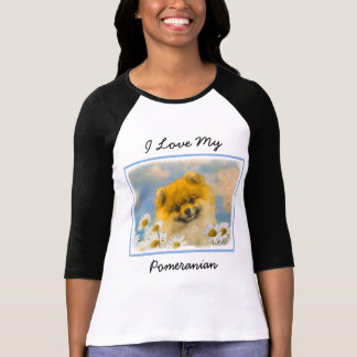 Pomeranian in Daisies T-Shirt