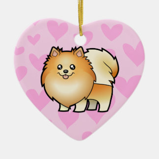 Pomeranian Love (add your own message) Christmas Ornament