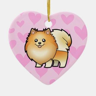 Pomeranian Love Christmas Ornament