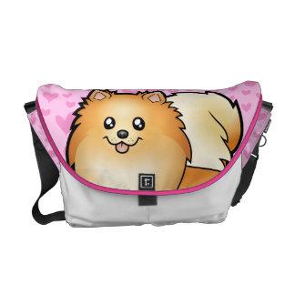 Pomeranian Love Courier Bags