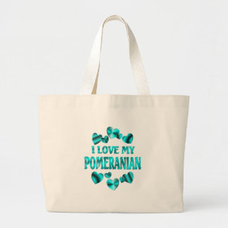POMERANIAN Love Large Tote Bag