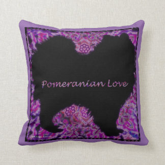 Pomeranian Love pillow by Carol Zeock Throw Cushion