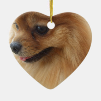 Pomeranian Lover Ceramic Heart Decoration