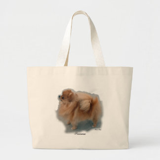Pomeranian Lovers Gifts Large Tote Bag
