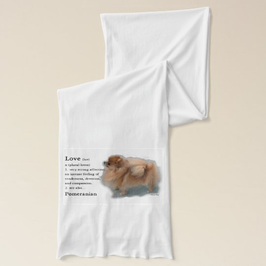 Pomeranian Lovers Gifts Scarf